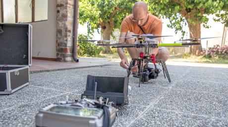 Operatore drone Roberto Gariup