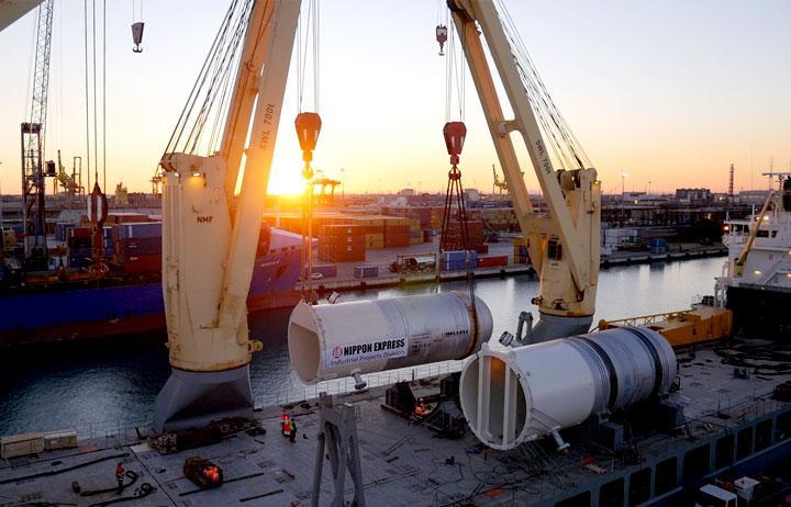 riprese aerre con drone grandi navi